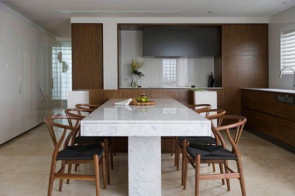 table de cuisine en marbre maison castelli. Black Bedroom Furniture Sets. Home Design Ideas